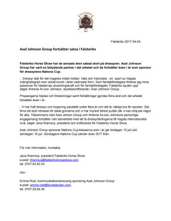 Axel Johnson Group fortsätter satsa i Falsterbo