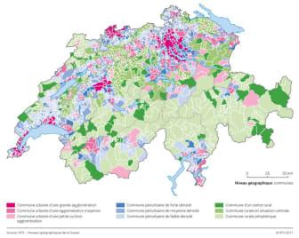 Gemeindetypologien Karte_FR_ImmoScout24