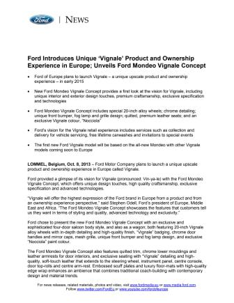 FORD FUTURES - FORD MONDEO VIGNALE CONCEPT (EU)