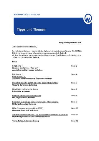 Tipps und Themen 9-2016