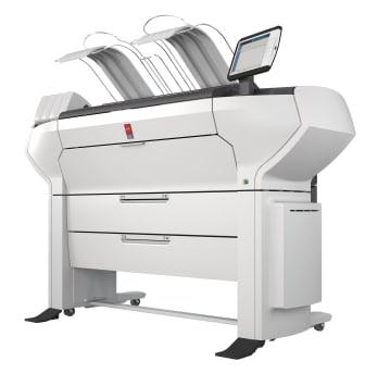 ColorWave 3500 4Roll Printer Only WHT FSR close up