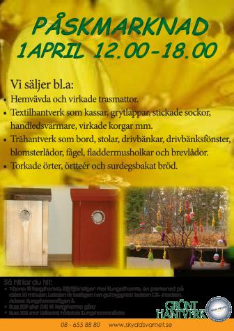 Sociala företag välkomnar till årets Påskmarknad i Bergshamra!