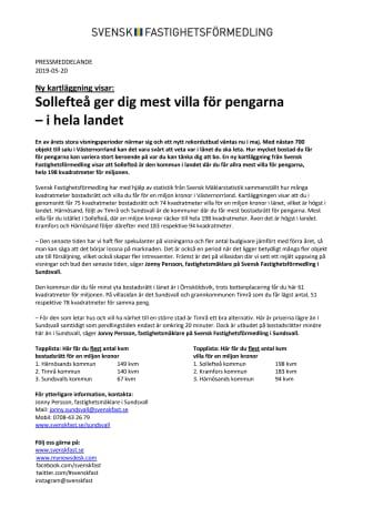 Ny kartläggning visar: Sollefteå ger dig mest villa för pengarna – i hela landet