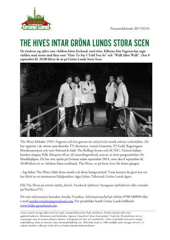 The Hives intar Gröna Lunds Stora Scen