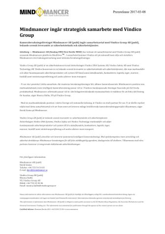 Mindmancer ingår strategisk samarbete med Vindico Group