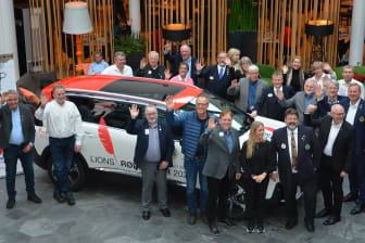 Lions Røde Fjær 2020-bilen ble raskt populær blant Lionsmedlemmene.