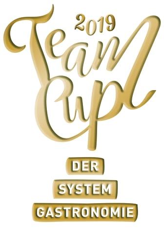 """Jubiläumslogo """"Teamcup der Systemgastronomie"""""""