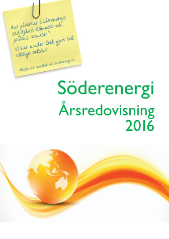 Söderenergi Årsredovisning 2016