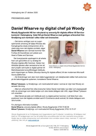 Daniel Wisarve ny digital chef på Woody