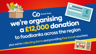 Go North East organises £12,000 donation to foodbanks across the region