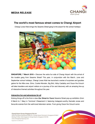 The world's most famous street comes to Changi Airport