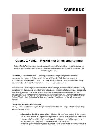 Galaxy Z Fold2 – Mycket mer än en smartphone