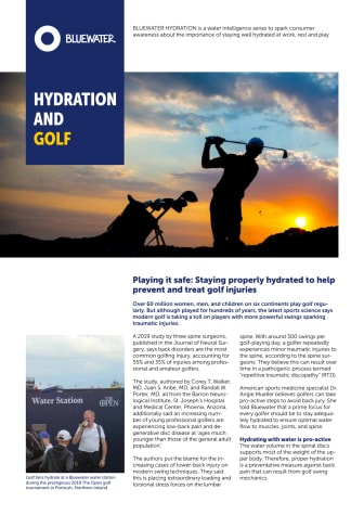 A fresh look at hydration for golf