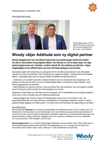Woody väljer Additude som ny digital partner