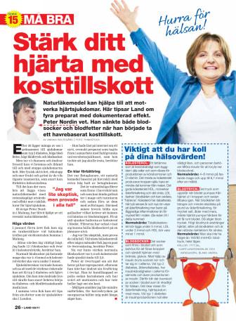 Tidningen Land skriver om den naturliga kolesterolsänkaren Lycq