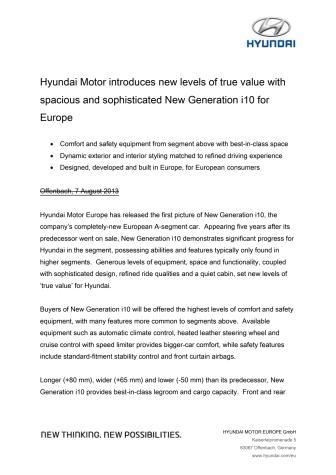 Hyundai introduserer ny og romslig i10