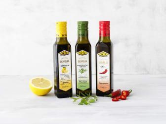 Samlingsbild- smaksatta olivoljor