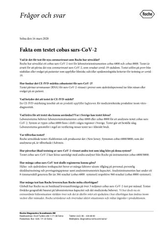 Fakta om testet cobas sars-CoV-2