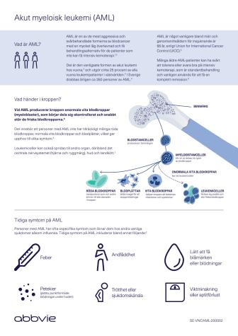 Akut myeloisk leukemi (AML) faktablad
