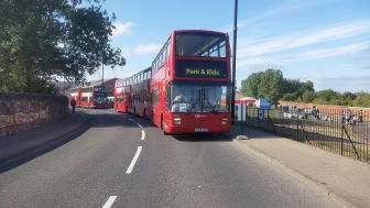 The Go North East Park & Ride buses for The Tall Ships Races 2018