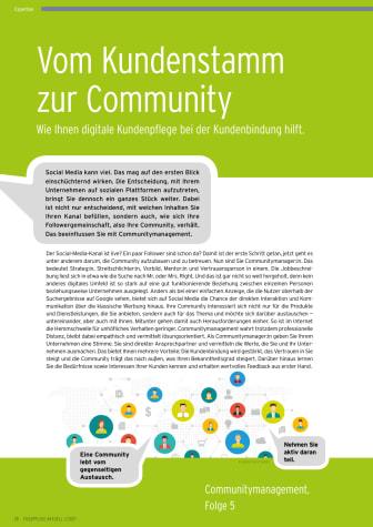 Vom Kundenstamm zur Community, Folge 5: Wie Ihnen digitale Kundenpflege bei der Kundenbindung hilft