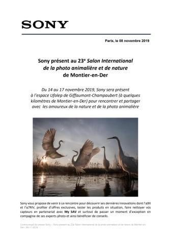 Sony présent au 23e Salon International  de la photo animalière et de nature  de Montier-en-Der