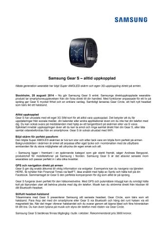 Samsung Gear S – alltid uppkopplad