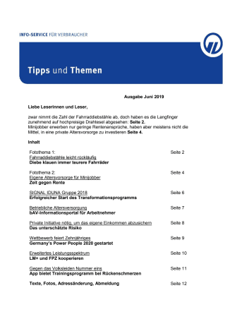 Tipps und Themen 6-2019