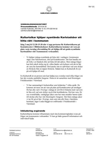 Kulturtolkar hjälper nyanlända Karlstadsbor att hitta rätt i kommunen