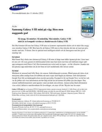 Samsung Galaxy S III mini på väg; liten men naggande god