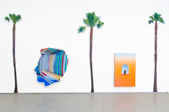 Alex Israel, Self-portrait (Surf Shop) , 2016, AND Untitled (Flat with Niche), 2014