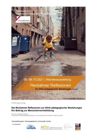 """Wanderausstellung zu den """"Reckahner Reflexionen"""" / Führungen und Micro-Workshops an der Uni Vechta"""