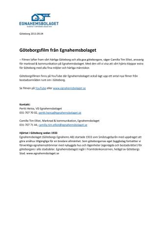 Göteborgsfilm från Egnahemsbolaget