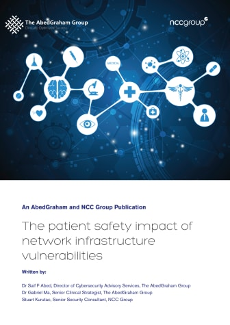 NCC Group: The patient safety impact of network infrastructure vulnerabilities whitepaper