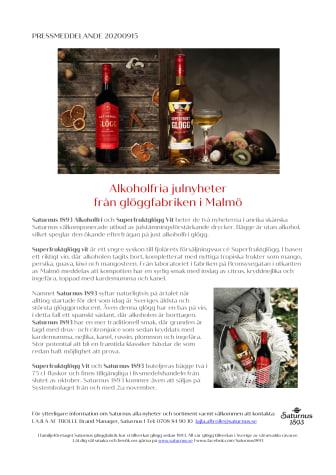 Alkoholfria julnyheter från glöggfabriken i Malmö