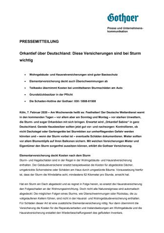 Orkantief über Deutschland: Diese Versicherungen sind bei Sturm wichtig