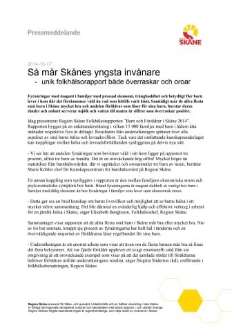 Så mår Skånes yngsta invånare - unik folkhälsorapport både överraskar och oroar