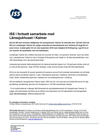 ISS i fortsatt samarbete med Länssjukhuset i Kalmar