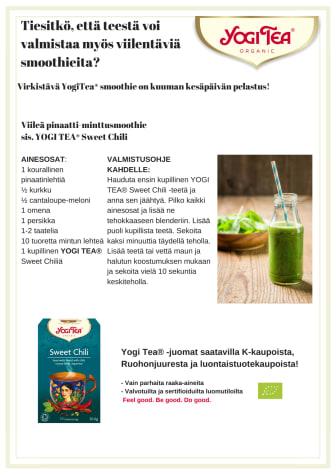 Tiesitkö, että teestä voi valmistaa myös viilentäviä smoothieita?