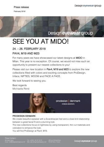 Design Eyewear Group's new concepts at Mido 2018!