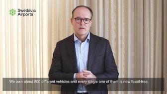 Jonas Abrahamsson, Swedavia's CEO, comments on Swedavia reaching its zero carbon footprint goal