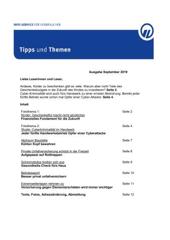 Tipps und Themen 9-2019