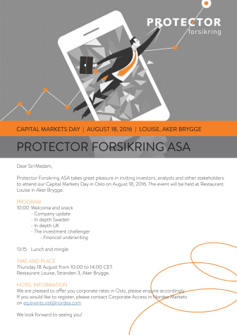 Invitasjon: Kapitalmarkedsdag 2016