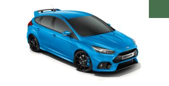 Ford Focus RS i färgen Nitrous Blue