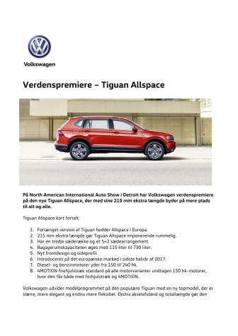 Verdenspremiere – Tiguan Allspace