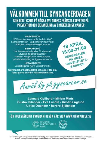 Gyncancerdagen 18 april 2016 i Stockholm