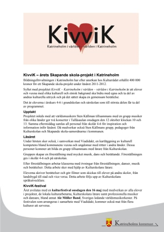 Presentation projekt Kivvik