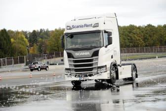 Fahrsicherheitstraining von Scania