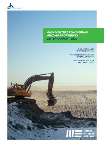 Maskinentreprenörernas konjunkturrapport (MEKO) vinterrapporten 2020
