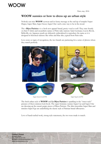 WOOW sunnies or how to dress up an urban style